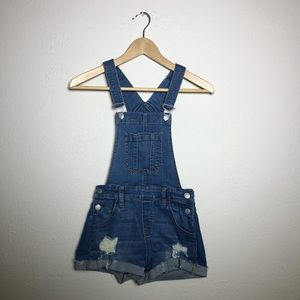 PacSun Denim Overall Shorts